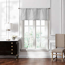 Waterford Lucida Straight Window Valance in Grey