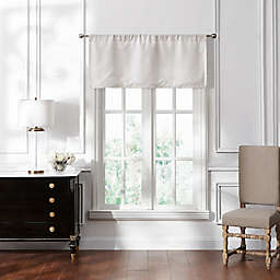 Waterford Lucida Straight Window Valance in Ivory