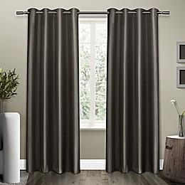 Shantung Grommet Room Darkening Window Curtain Panel Pair