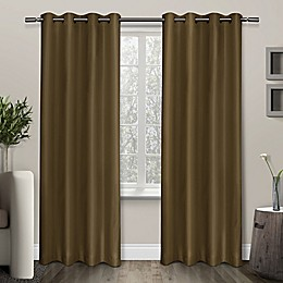 Shantung Grommet Room Darkening Window Curtain Panel Pair