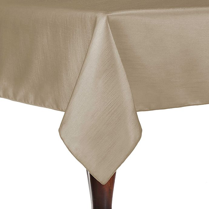 Alternate image 1 for Majestic 60-Inch x 108-Inch Tableclothin Beige