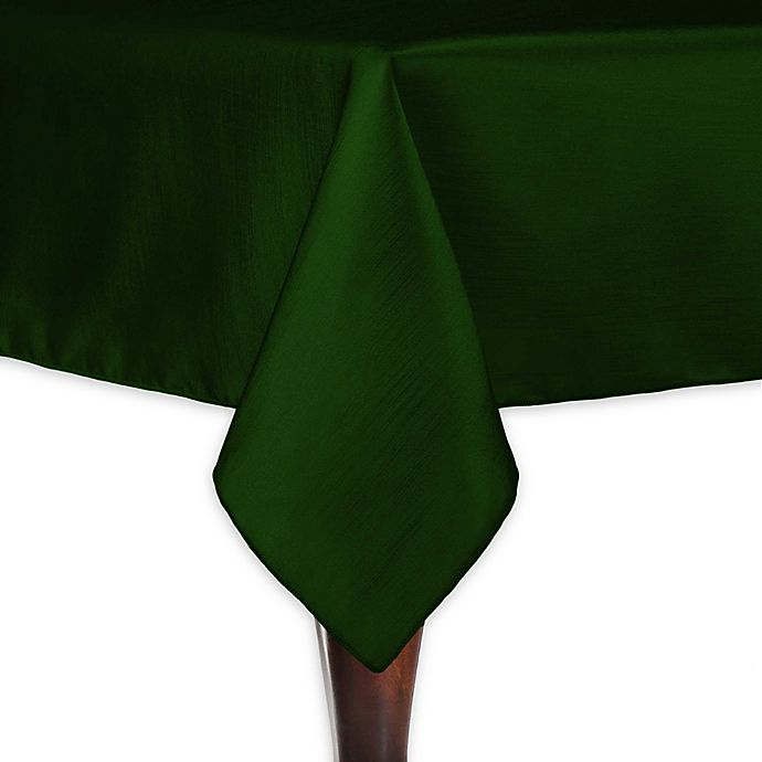 Alternate image 1 for Majestic 60-Inch x 108-Inch Tablecloth in Hunter Green