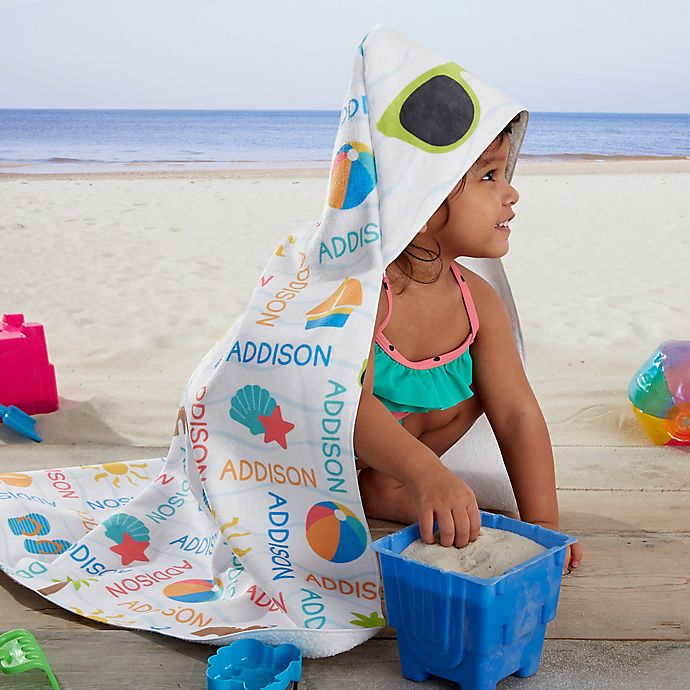 Alternate image 1 for Beach Fun! Personalized Hooded Beach & Pool Towel