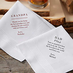 Write Your Own Personalized Mens Handkerchief