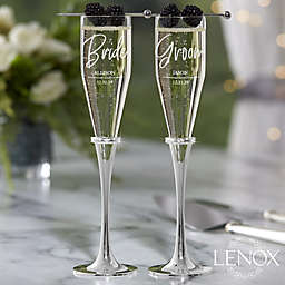 Lenox ® Devotion Engraved Wedding Champagne Flute Set