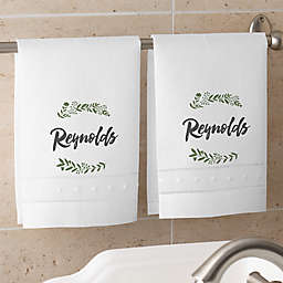 Cozy Home Personalized Guest Towel Set