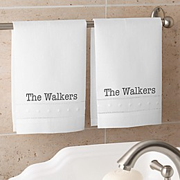Classic Celebrations Personalized Guest Towel Set