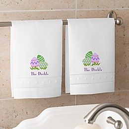 Easter Egg Personalized Guest Towel Set