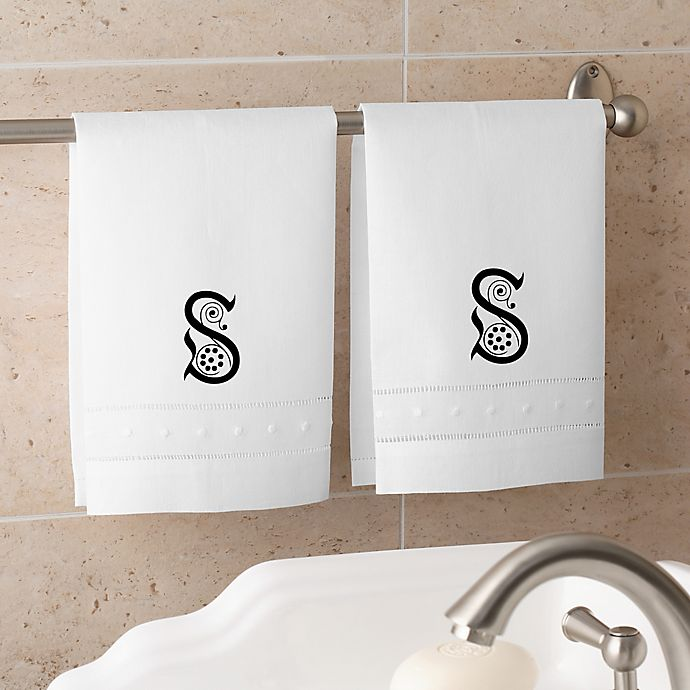 Alternate image 1 for Initially Yours Personalized Guest Towel Set