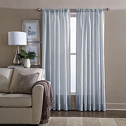Wamsutta® Sheer 108-Inch Window Curtain Panel in Blue