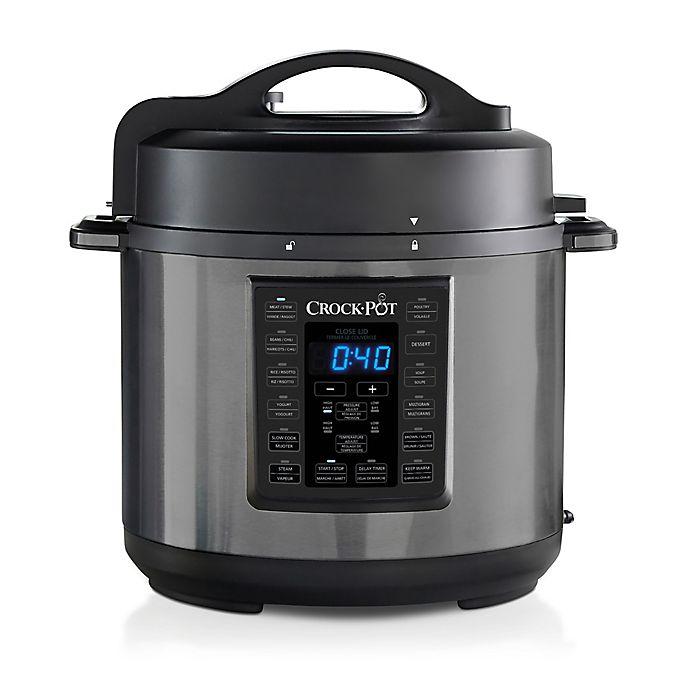 Alternate image 1 for Crockpot™ 6-qt Express Crock Multi-Cooker in Black Stainless