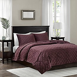 Madison Park Harper Velvet Coverlet Set