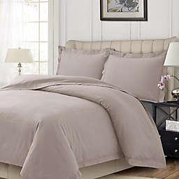 Tribeca Living Solid Flannel Duvet Cover Set