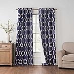 Draftblocker Easton Printed 63-Inch Grommet Room Darkening Window Curtain Panel in Blue