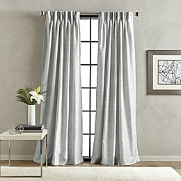 Sandstone Pinch Pleat/Back Tab Window Curtain Panel