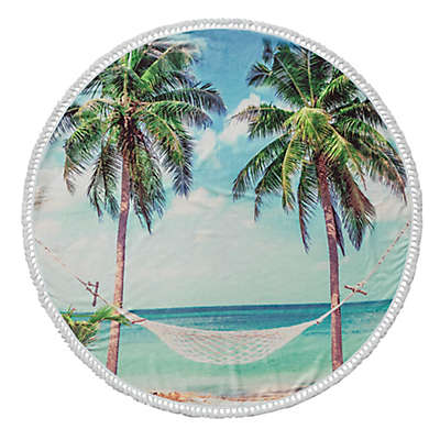 Enchante Home® Summer Turkish Cotton Round Beach Towel