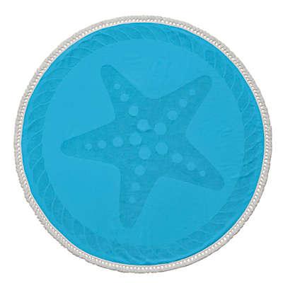 Enchante Home® Starfish Turkish Cotton Round Beach Towel
