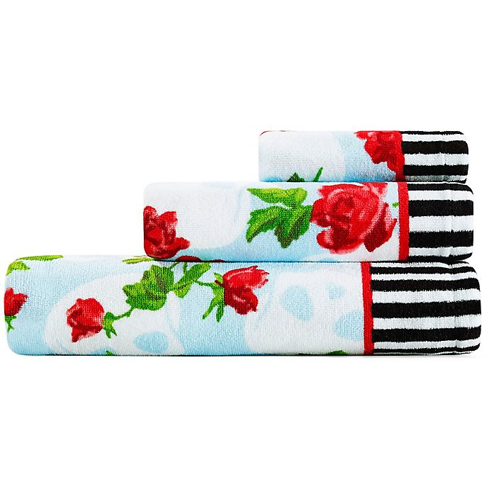 Alternate image 1 for Betsey Johnson® Skull Garden 3 Piece Bath Towel Set