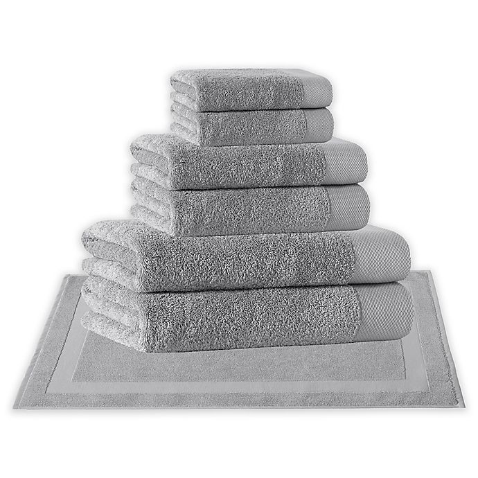 Alternate image 1 for Enchante Home® Signature 8-Piece Turkish Cotton Towel Set in Silver