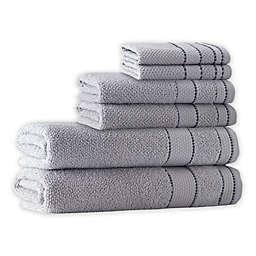 Enchante Home® Monroe 6-Piece Turkish Cotton Towel Set in Silver