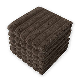 Brampton Washcloths in Chocolate (Set of 6)