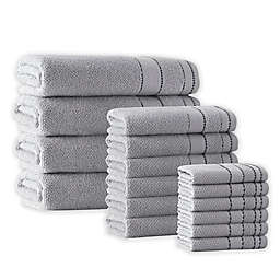 Enchante Home® Monroe 16-Piece Turkish Cotton Towel Set in Silver