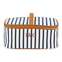 Cathy's Concepts Striped Cosmetic Case in Navy