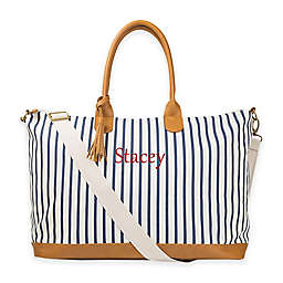 37989c6873 Cathy s Concepts Striped Weekender Tote in Navy