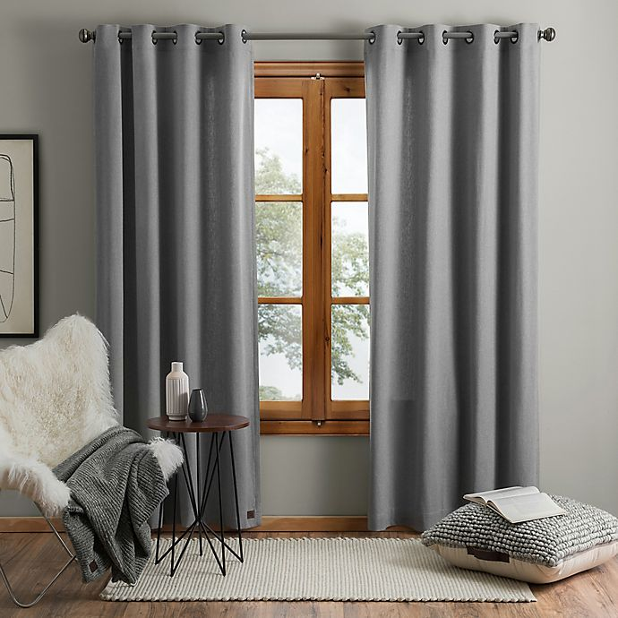 Alternate image 1 for UGG® Olsen 95-Inch Grommet Window Curtain Panel in Grey