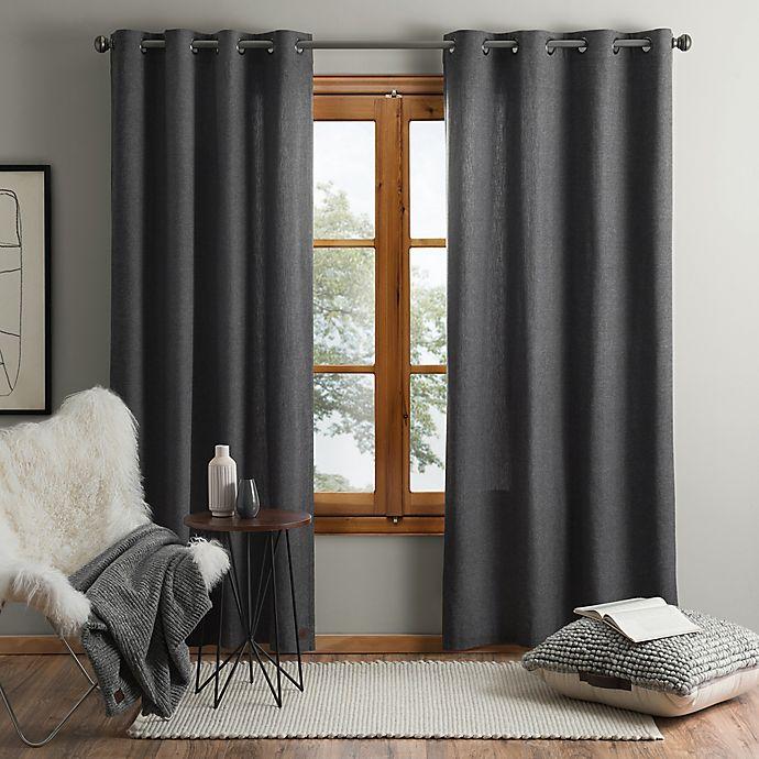 Alternate image 1 for UGG® Olsen 84-Inch Grommet Window Curtain Panel in Charcoal