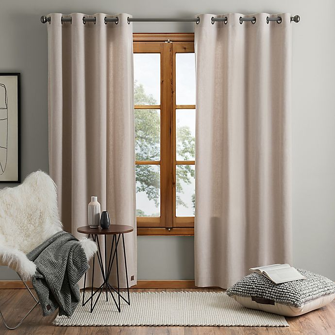 Alternate image 1 for UGG® Olsen 108-Inch Grommet Window Curtain Panel in Oatmeal