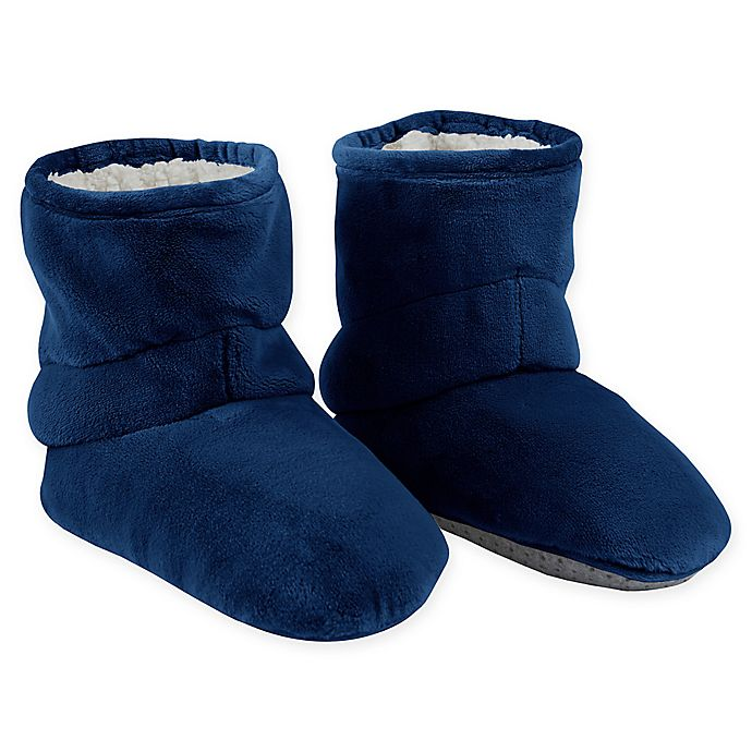 Alternate image 1 for Therapedic® Size Medium/Large Unisex Weighted Slippers in Navy