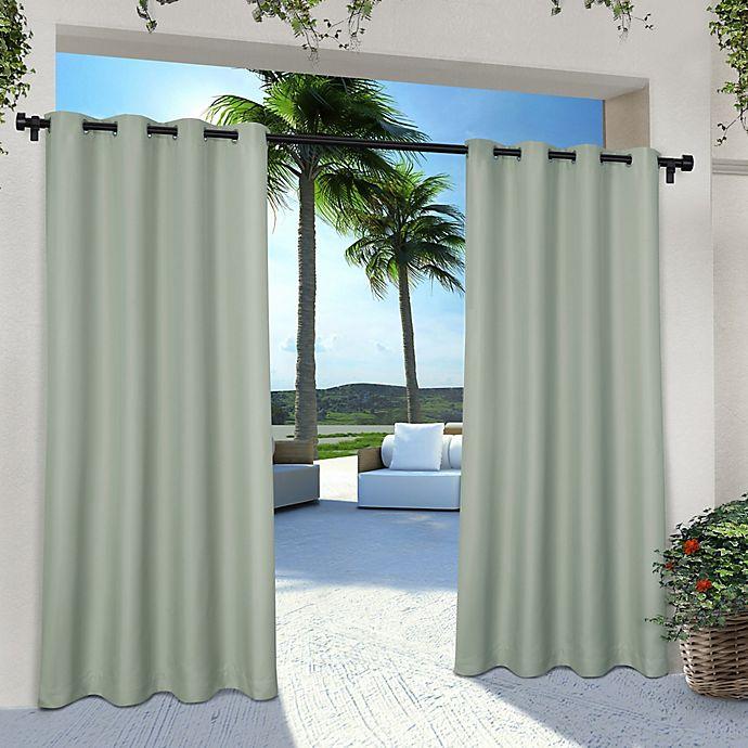Alternate image 1 for Solid Indoor/Outdoor Grommet Window Curtain Panels (Set of 2)