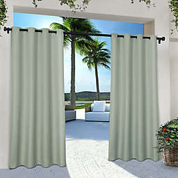 Solid Indoor/Outdoor 96-Inch Grommet 2-Pack Window Curtain Panels in Seafoam