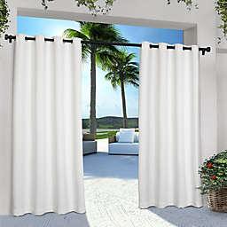 Solid Indoor/Outdoor 96-Inch Grommet Window Curtain Panels in Winter White (Set of 2)