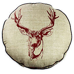 Realtree® Deer Head Round Throw Pillow in Tan