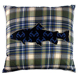 Realtree® FIsh Plaid Square Throw Pillow in Green