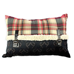 Realtree® Plaid Buckles Oblong Throw Pillow in Black