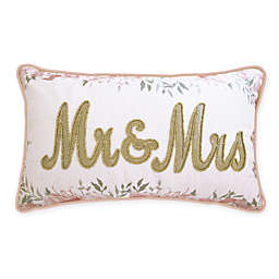 Edie@Home Mr. & Mrs. Square Throw Pillow