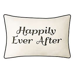 """Edie @ Home """"Happily Ever After"""" Oblong Throw Pillow"""