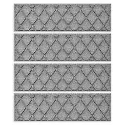 """Weather Guard™ Argyle 8.5"""" x 30"""" Stair Treads in Grey (Set of 4)"""