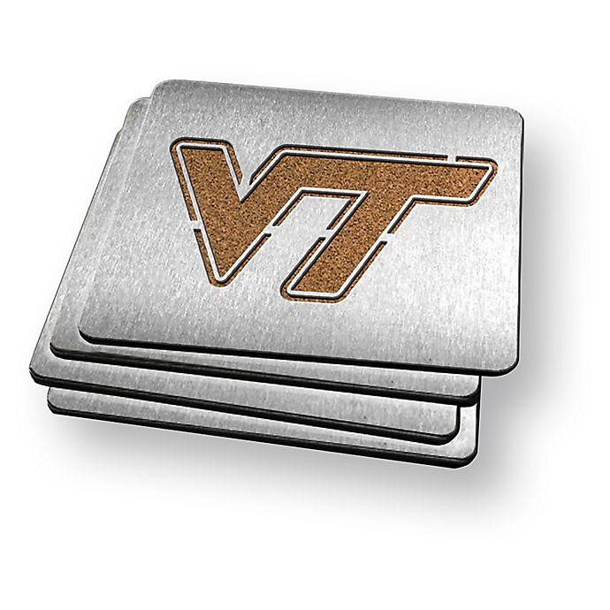 Alternate image 1 for Virginia Tech 4-Piece Boaster Coasters Set