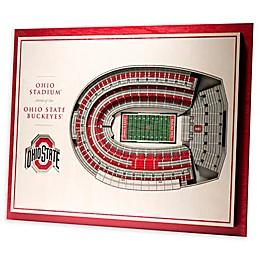 Ohio State University 5-Layer StadiumViews 3D Wall Art