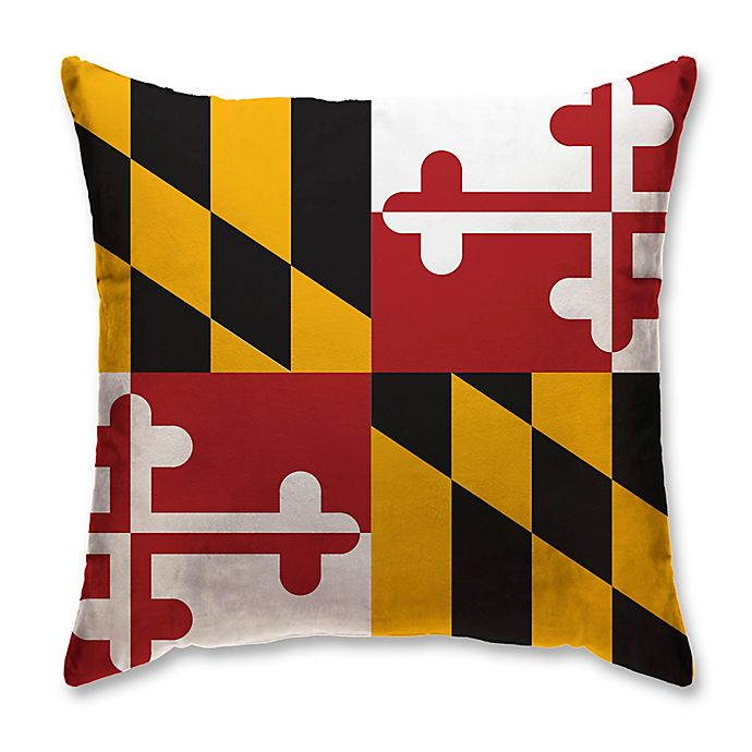 Alternate image 1 for Maryland State Flag Memory Foam Travel Pillow