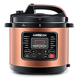 GoWISE USA® 12.5 qt. 12-in-1 Electric Pressure Cooker in Stainless Steel