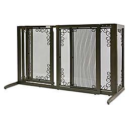 Richell® Deluxe Freestanding Mesh Pet Gate in Bronze