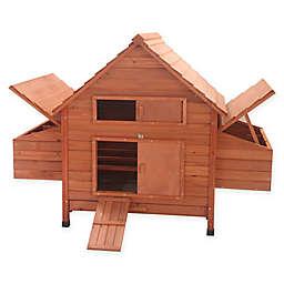 Multi Level Wooden Chicken Coop/Rabbit Hutch