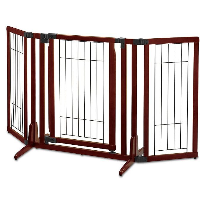Alternate image 1 for Richell® Premium Plus Pet Gate in Brown