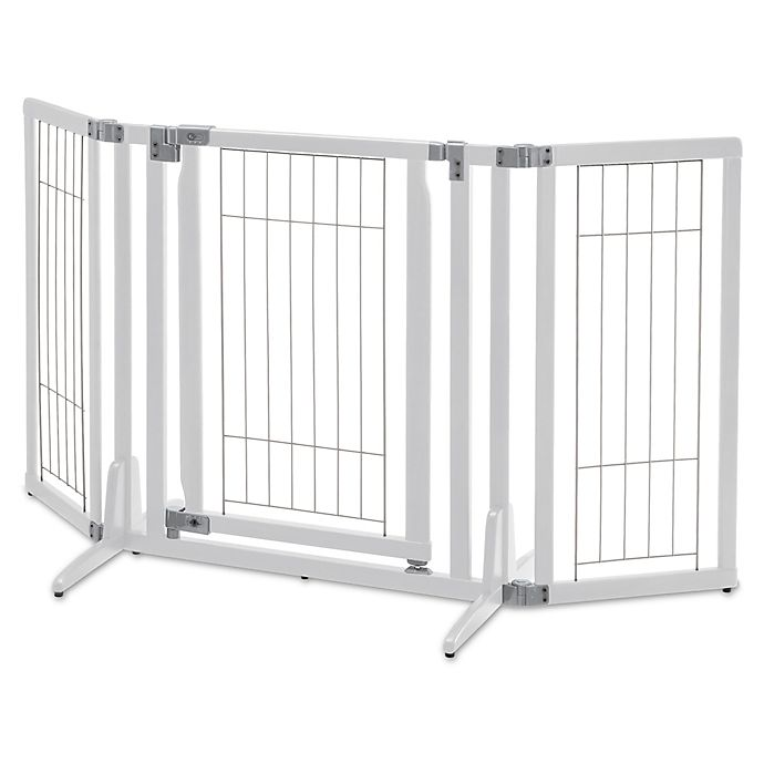 Alternate image 1 for Richell® Premium Plus Pet Gate in White