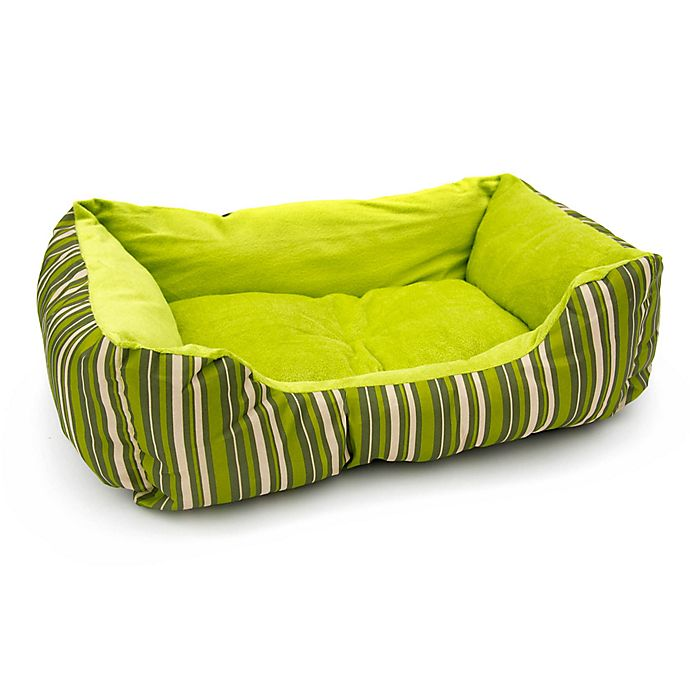 Alternate image 1 for Striped Cushion Crate Pet Bed